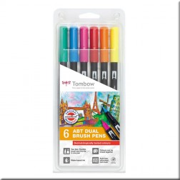 Set 6 Rotuladores Tombow Colores Vivos