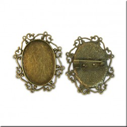 Bases Broche Filigranas Ovalado (21x30mm)