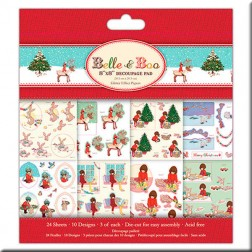 Papeles decoupage 3D Glitter - Belle and Boo Christmas