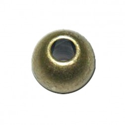 Bola de metal color oro viejo (8 x6mm) - 10 ud