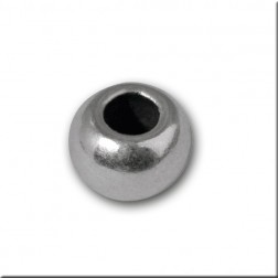 Bola de metal color plata (3x5 mm) - 25 ud