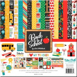 Set Papeles y Adhesivos Back To School (30x30)