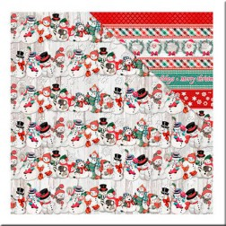 Papel Scrapbooking Snow Family (30x30)
