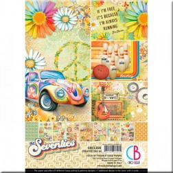 Papeles Scrapbooking The Seventies (A4)