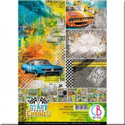 Papeles Scrapbooking Start your Engines (A4)