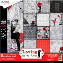 Papeles Scrapbooking Loving in the Rain (30x30)