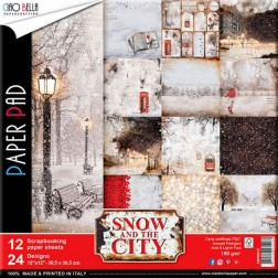 Papeles Scrapbooking Snow And The City (30x30)