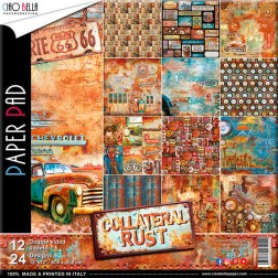 Papeles Scrapbooking Collateral Rust (30x30)