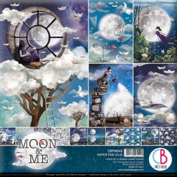 Papeles Scrapbooking Moon & Me (30x30)