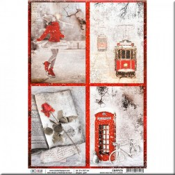 Papel de Arroz Snow and the City cards de Ciao Bella