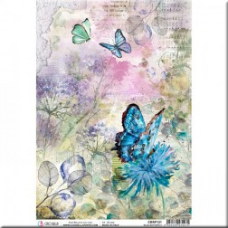 Papel de Arroz Blue Butterfly de Ciao Bella