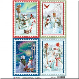 Papel de Arroz Northern Lights Stamps de Ciao Bella