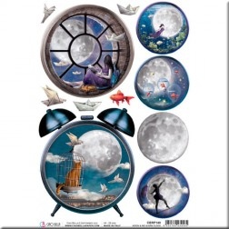 Papel de Arroz Moon & Me Alarm Clock de Ciao Bella