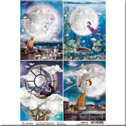 Papel de Arroz Moon & Me Cards de Ciao Bella