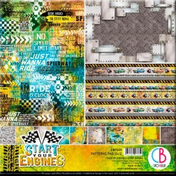 Papeles Scrapbooking Estampados Start your Engines (30x30)