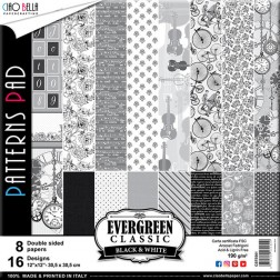 Papeles Scrapbooking Estampados Black & White (30x30)