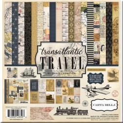 Kit Papeles Scrap Transatlantic Travel (30x30)