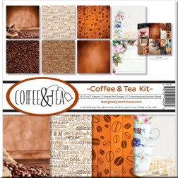 Set Papeles y Adhesivos Coffe & Tea (30x30)