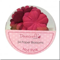 Flores de papel Hot Pink - Dovecraft