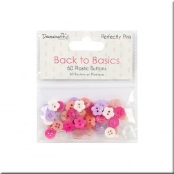 Botones de Plástico Back To Basics Perfectly Pink