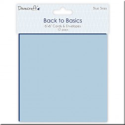 Tarjetas y Sobres Back to Basics Blue Skies