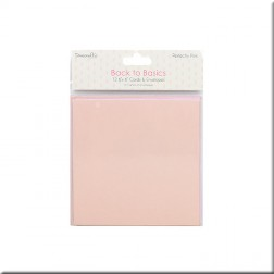 Tarjetas y Sobres Back To Basics Perfectly Pink (15x15)