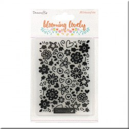 Carpeta Embossing Blooming Lovely