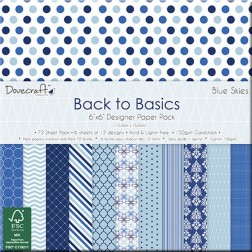 Papeles Scrapbooking Back to Basics Blue Skies (15x15)