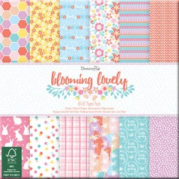 Papeles Scrapbooking Blooming Lovely (15x15)