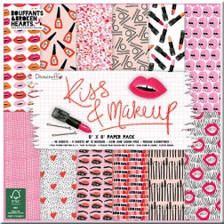 Papeles Scrapbooking Kiss & Makeup (20x20)