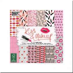 Papeles Scrapbooking Kiss & Makeup (15x15)