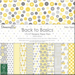 Papeles Scrapbooking  Back To Basics Baby Steps (30x30)