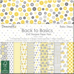Papeles Scrapbooking Back To Basics Baby Steps (15x15)