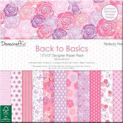 Papeles Scrapbooking  Back To Basics Perfectly Pink (30x30)