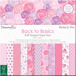 Papeles Scrapbooking Back To Basics Perfectly Pink (20x20)