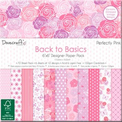 Papeles Scrapbooking Back To Basics Perfectly Pink (15x15)