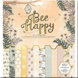 Papeles Scrapbooking Bee Happy (30x30)