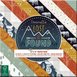 Papeles Scrapbooking Lost & Found (30x30)