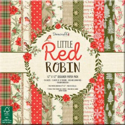 Papeles Scrapbooking Little Red Robin (30x30)