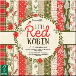 Papeles Scrapbooking Little Red Robin (20x20)