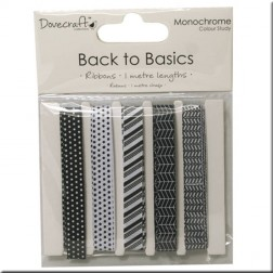 Cintas de Grosgrain - Back to Basics Monochrome
