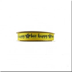 Cinta Grosgrain Amarilla Bee Happy Blooming Lovely