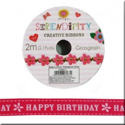 Cinta de Grosgrain Happy Birthday - Serendipity