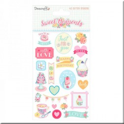 Adhesivos con Glitter Sweet Moments (A5)