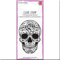 Sello Sugar Skull & Rose