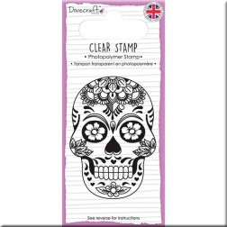 Sello Sugar Skull & Flowers