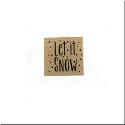 Sello de Madera Let It Snow
