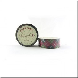 Washi Tape Rojo y Verde Tableado