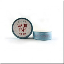 Washi Tape Azul Best Wishes