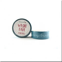 Washi Tape Aguamarina Happy Birthday